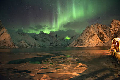 Photograph - Northern Light In Lofoten, Nordland 1 by Dubi Roman