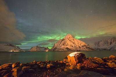Photograph - Northern Light In Lofoten, Nordland 3 by Dubi Roman