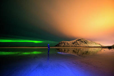 Photograph - Northern Light In Lofoten, Nordland 4 by Dubi Roman
