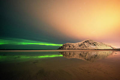 Northern Light In Lofoten Nordland 5 Art Print by Dubi Roman