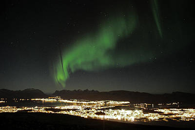 Northern Light In Troms, North Of Norway Art Print