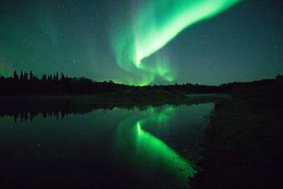 Nightscape Photograph - Northern Lights Alaska by April Bielefeldt
