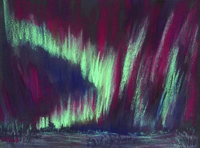 Northern Lights Art Print by Anastasiya Malakhova