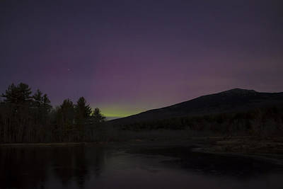 Photograph - Northern Lights And Mount Monadnock December 2015 by John Burk