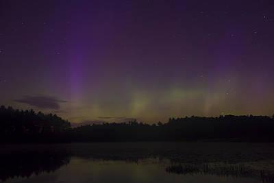 Photograph - Northern Lights At Lake Rohunta by John Burk