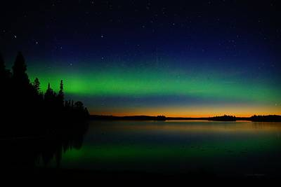 Photograph - Northern Lights At Sunrise by Steven Clipperton