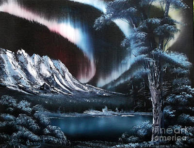 Painting - Northern Lights Aurora Borealis by Cynthia Adams