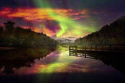 Photograph - Northern Lights by Debra and Dave Vanderlaan