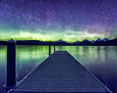 Photograph - Northern Lights Glacier National Park by Gigi Ebert