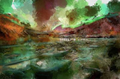 Manipulation Photograph - Northern Lights Illustrative by Mario Carini