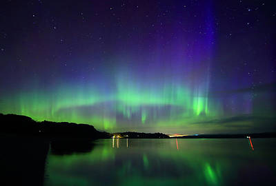 Photograph - Northern Lights In Maine by Barbara West