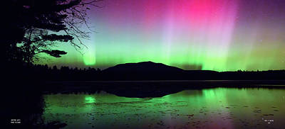 Photograph - Northern Lights - Mount Katahdin by Dale J Martin