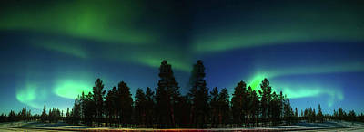 Photograph - Northern Lights Over Finland by Sturrax