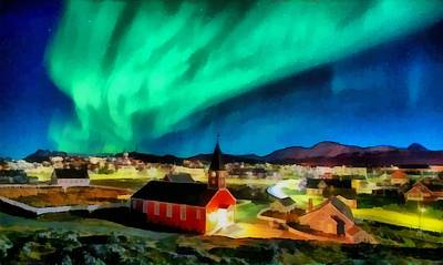 Colorful People Abstract Royalty Free Images - Northern Lights Over Nuuk Royalty-Free Image by Mario Carini