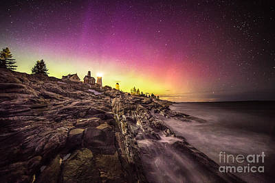 Maine Landscape Photograph - Northern Lights Over Pemaquid Point by Benjamin Williamson