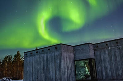 Photograph - Northern Lights Over Sapmi Museum Karasjok Norway by Adam Rainoff