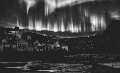 Photograph - Northern Lights Over Staithes, Yorkshire by Pixabay