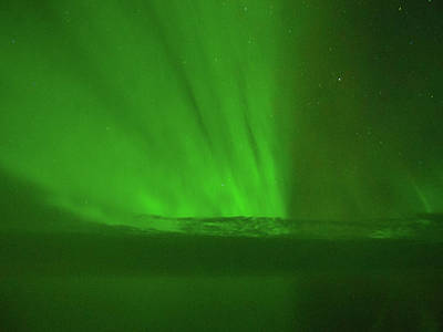 Photograph - Northern Lights Over The North Atlantic by Allan Levin