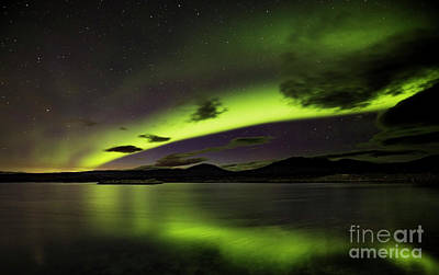 Photograph - Northern Lights Over Thingvallavatn by Gunnar Orn Arnason