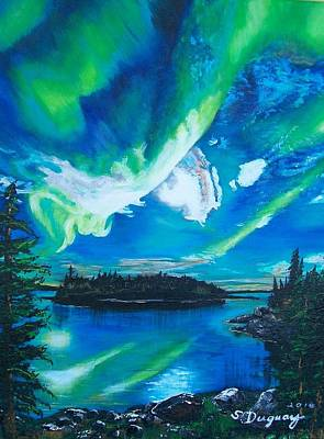 Painting - Northern Lights  by Sharon Duguay