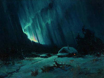 Yosemite Valley Painting - Northern Lights by Sydney Mortimer Laurence