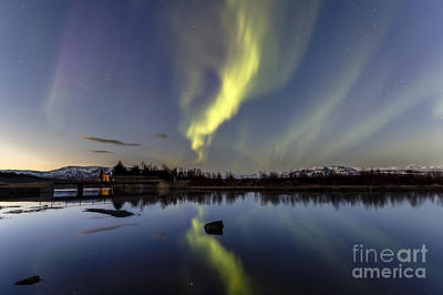 Photograph - Northern Lights Thingvellir by Gunnar Orn Arnason