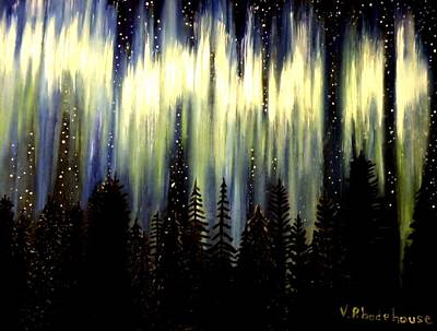 Painting - Northern Lights by Victoria Rhodehouse