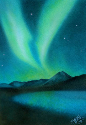 Painting - Northern Lights Viii by Robin Street-Morris