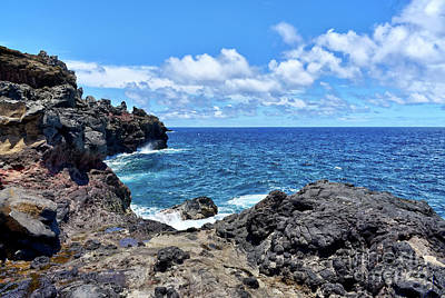 Photograph - Northern Maui Rocky Coastline by Eddie Yerkish