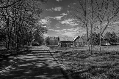 Photograph - Northern Michigan Barn And Road by John McGraw
