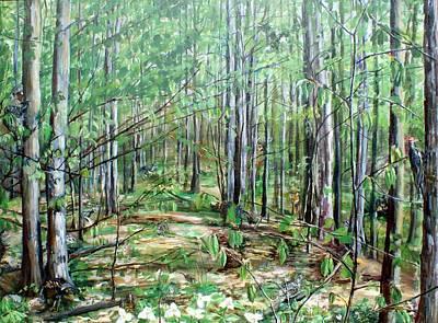 Northern Michigan Woods Original by Eleonora Hayes