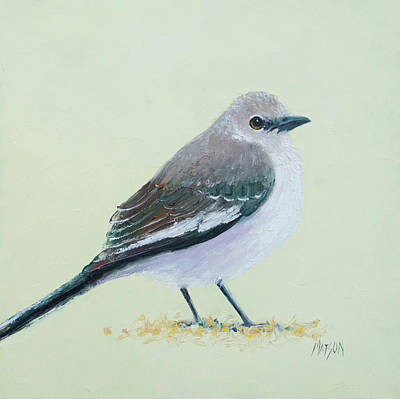 Painting - Northern Mockingbird by Jan Matson