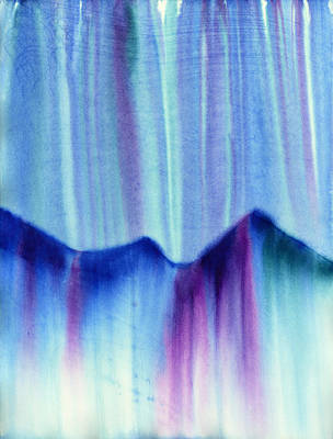 Abstract Painting - Northern Mountain Lights by Hakon Soreide