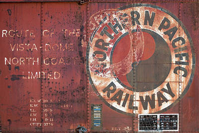 Wagon Train Photograph - Northern Pacific Railway by Todd Klassy