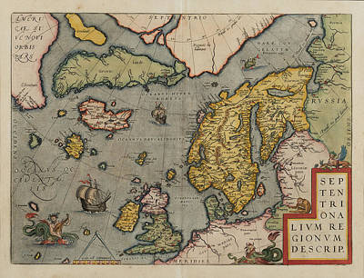 Painting - Northern Regions  by Abraham Ortelius