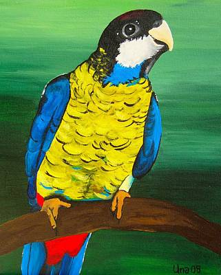 Australian Painting - Northern Rosella by Una  Miller