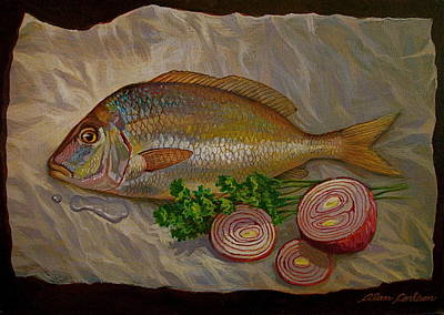 Northern Scup With Dill Onion Art Print by Alan Carlson