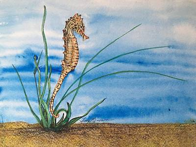 Painting - Northern Seahorse by Mastiff Studios