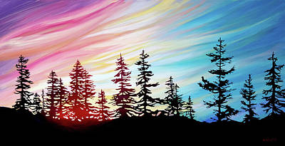 Wall Art - Painting - Northern Skies  by Alison Newth