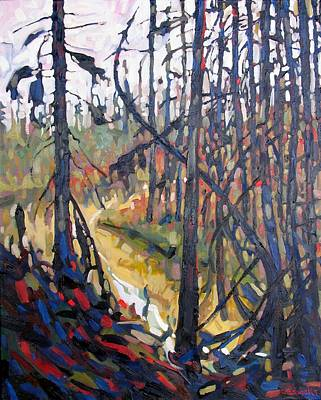 Climate Change Painting - Northern Trickle by Phil Chadwick