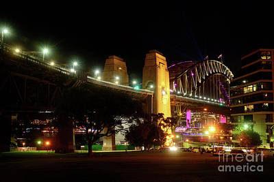 Photograph - Northern View Sydney Harbour Bridge By Kaye Menner by Kaye Menner