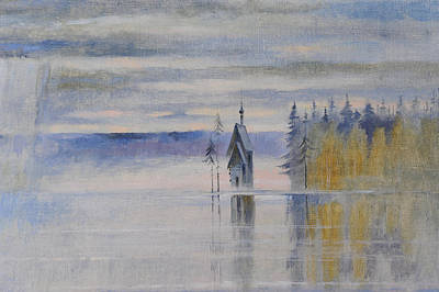 Valaam Painting - Northern Zen. Fragment by Valentina Kondrashova