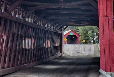 Photograph - Northfield Falls Covered Bridge by Jeff Folger