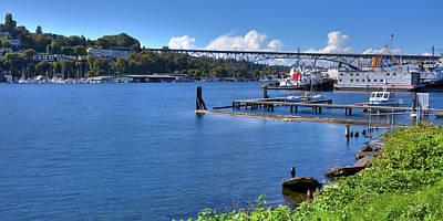 Photograph - Northlake Shipyard In Seattle by David Patterson