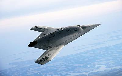 Airplane Digital Art - Northrop Grumman X-47b by Super Lovely