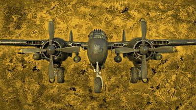 Digital Art - Northrop P-61 Black Widow by Michael Cleere
