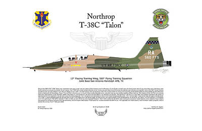 Digital Art - Northrop T-38c Talon 560fts by Arthur Eggers