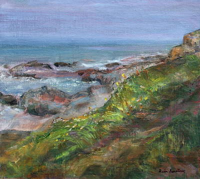 Painting - Northshore - Scenic Seascape Painting by Quin Sweetman