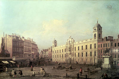Northumberland Painting - Northumberland House by Canaletto