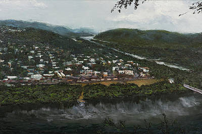 Painting - Northumberland On The Susquehanna River by Faith Saxton